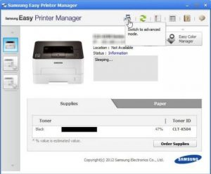 Samsung Easy Printer Manager Won't Start