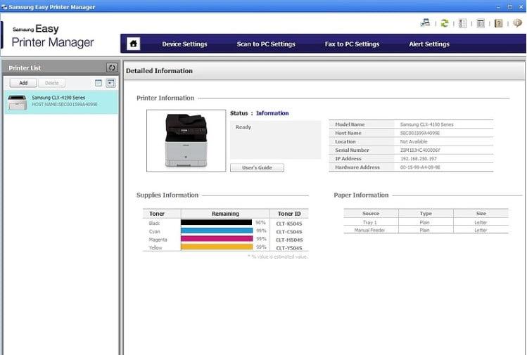 Samsung Easy Printer Manager