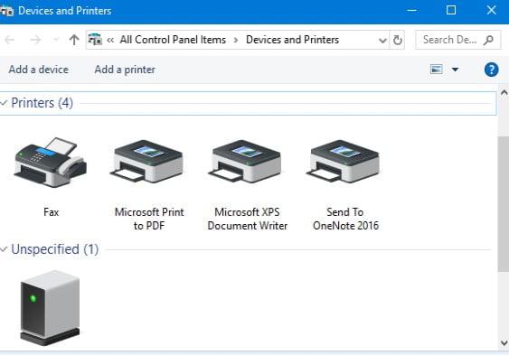 Printer Manager Windows 10