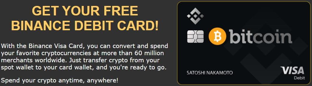 GET YOUR FREE BINANCE DEBIT CARD!